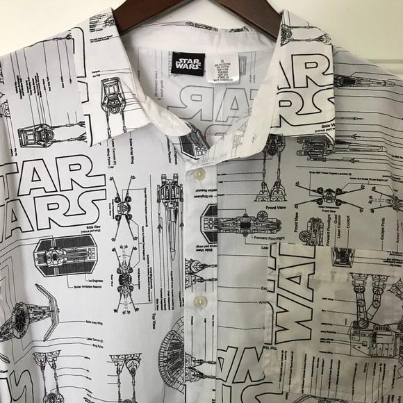 Star wars shirts disney space ship blueprint ss button xl poshmark m5b86e3f6d6716a7c33e3d683 malvernweather Choice Image